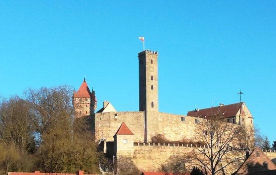 Burg Abenberg am wunderschönen 1. Januar 2020 mit tollem Ausblick